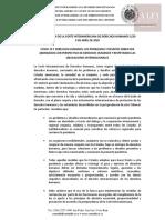Declaración de la Corte IDH 1/20 9 DE ABRIL DE 2020