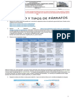 Guía 3 el párrafo y tipos de párrafos Español Maricela  8°2 a 8°-6