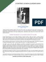 Biography and Portrait of Sadhu Sundar Singh