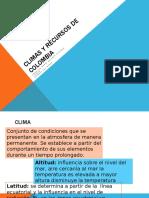 Climas+y+Recursos+de+Colombia