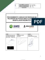 PROCEDIMIENTO CARGUIO DE RESIDUOS NO PELIGROSO EN PATIOS CON MANIPULADOR Y DESCARGA DE RESIDUOS NO PELIGROSOS SMS-PRO-01