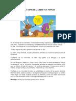 FÁBULA CORTA DE LA LIEBRE Y LA TORTUGA.docx