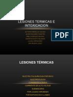 LESIONES TERMICAS E INTOXICACIONES