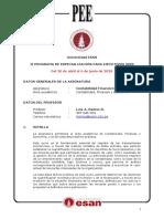 Syllabus de la Asignatura  2020 PEE II
