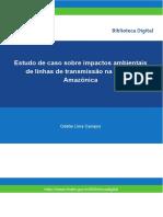 Estudo de caso sobre impactos ambientais de linhas de transmissão Amazonia