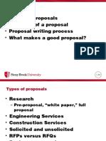 Technical Communication - Proposals