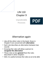 LIN 110 Chapter 9