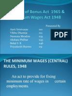 Group 3 Bonus Act Minimum Wages Act