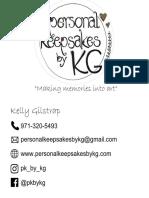 Personal Keepsakes Business Card