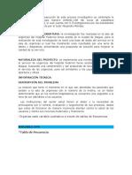 informe propuesta de solucion