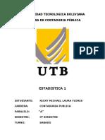 PRATICA N°2 ESTD. RICKY M. LAURA FLORES TURNO SABADO ESTADISTICA 1