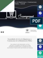 Generalidades de la Ley de Adquisiciones y Contrataciones de la Administración Pública