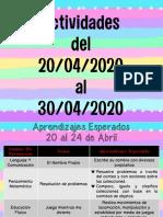 Actividades para casa del 20-04-2020 al 30-04-2020