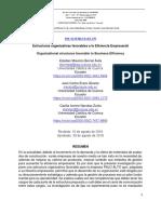 Estructuras organizativas favorables a la Eficiencia Empresarial