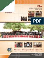 RVSIMSR Placement Brochure 2009-11