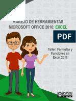 Taller Formulas y Funciones en Excel 2016
