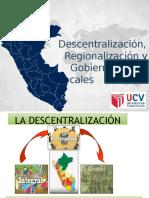 EXPO FINAL DESCENTRALIZACIÓN Y REGIONALIZACIÓN