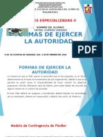 FORMAS DE EJERCER LA AUTORIDAD