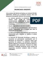 COMUNICADO. SACHACA ESTADO DE EMERGENCIA.pdf