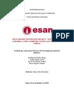FINAL REPORT INTEGRATED PROJECT - TEXTILEROS DE GAMARRA - COMO COMPETIR CONTRA LOS TEXTILEROS CHINOS
