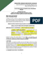Modelo Solicitud Reducción Pensión Universidad Privada - Autor José María Pacori Cari