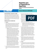 Requisitos para instalaciòn de superficies