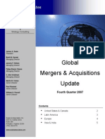Global Mergers Acquisitions Update