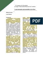Investigación en psicoterapia psicoanalítica de niños. (leída)