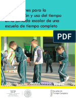 Orientaciones Para El Uso Del Tiempo en La Jornada Escolar