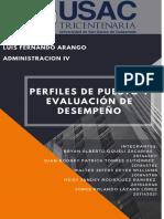 PERFILES DE PUESTO Y EVALUACIÓN DE DESEMPEÑO