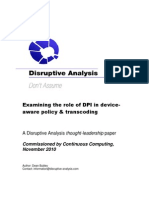 Policy Mgmt Paper 1 - Role of DPI and Device-Awareness
