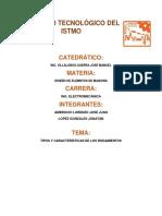 CARACTERISTICAS DE RODAMIENTOS