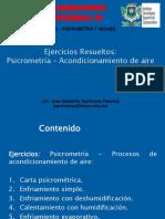 3.1. - EXPO - Ejercicios Resueltos Psicrometria - Acondicionamiento de aire - Dr. José A. Sarricolea Valencia