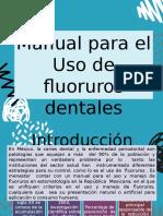 Manual para el Uso de fluoruros dentales