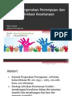 Sejarah Gerakan Perempuan dan Strategi Advokasi Keadilan Gender_Dian