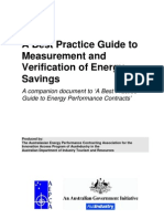 A Best Practice Guide to mMeasurement and Verification of Energy Savings