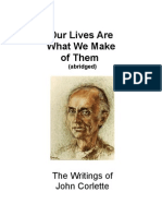 JC SPEECH  32 pages with excerpts from the Rule Book   John Corlette's Educational Philosophy