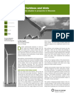 Wind Turbines and Birds Factsheet