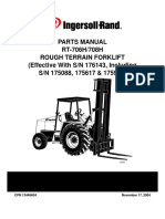 c INGERSOLL RAND  ROUGH TERRAIN FORKLIFT PARTS MANUAL