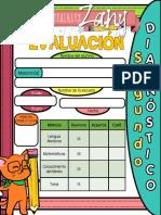 Examen - Segundo Grado - Diagnóstico - Materiales Zany