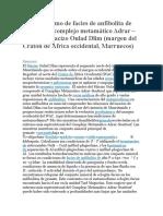 Metamorfismo de facies de anfibolita de alta P en el complejo metamático Adrar articulo 2
