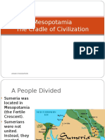 "The cradle of civilization ""mesopotamia"""