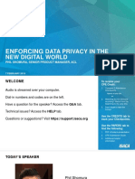 Presentation - ENFORCING DATA PRIVACY IN THE NEW DIGITAL WORLD Full Slides
