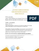 Formato para diseño de entrevista - Inv. cualitativa