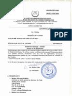 CADHP - L'arret 012-2020 Guillaume Kigbafori Soro et Autres c. République de Côte D'ivoire