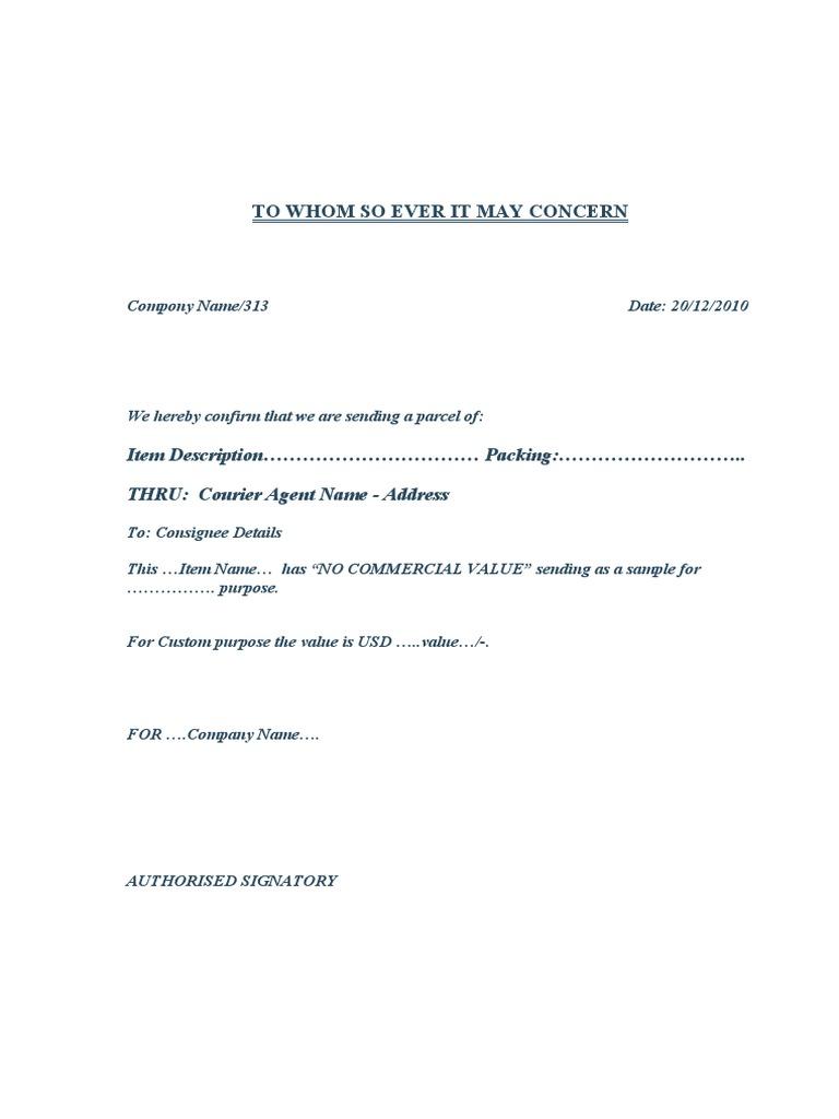 Sample letter for courier sending spiritdancerdesigns Gallery