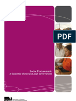 Social Procurement a Guide for Victorian Local Government