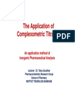 05a. Complexometric Titration Application
