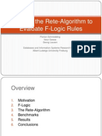 Adapting the Rete-Algorithm to Evaluate F-Logic Rules