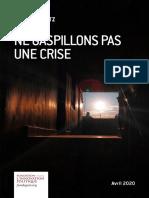 Etude Fondapol Josef Konvitz Ne Gaspillons Pas Une Crise 2020-04-22